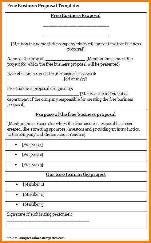 Free Proposal Template. Free Download Formal Business Proposal ...