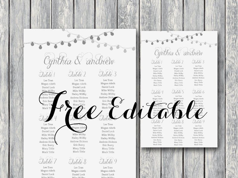 Seating Chart Templates. Wedding Seating Chart Template - 12+ ...