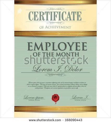 Employee Certificate Stock Images, Royalty-Free Images & Vectors ...
