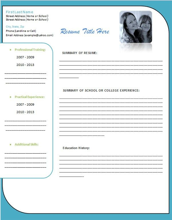 Word 2013 Resume Templates. Impressive Design Ideas Resume In Word ...
