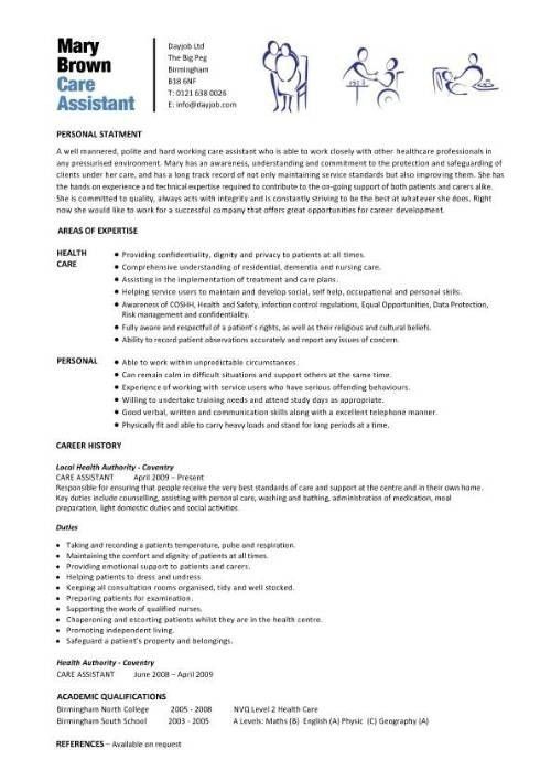 Health Care Assistant Cv Template - clipartsgram.com