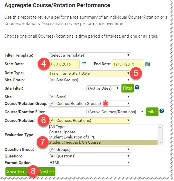 Viewing Student Evaluation of Course Report (Faculty) | The ...