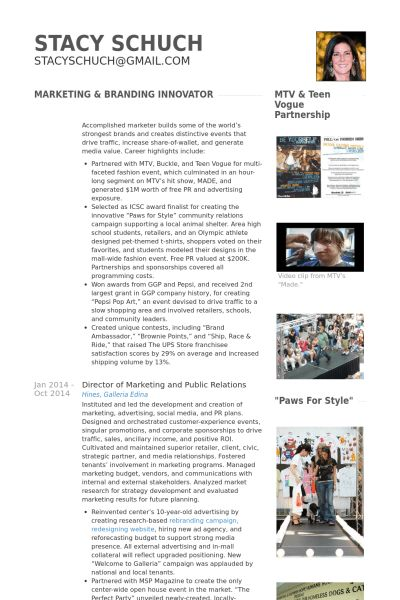Marketing Director Resume samples - VisualCV resume samples database