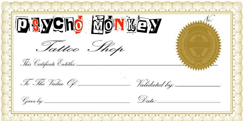 Tattoo Gift Certificate Template | Free Download Clip Art | Free ...