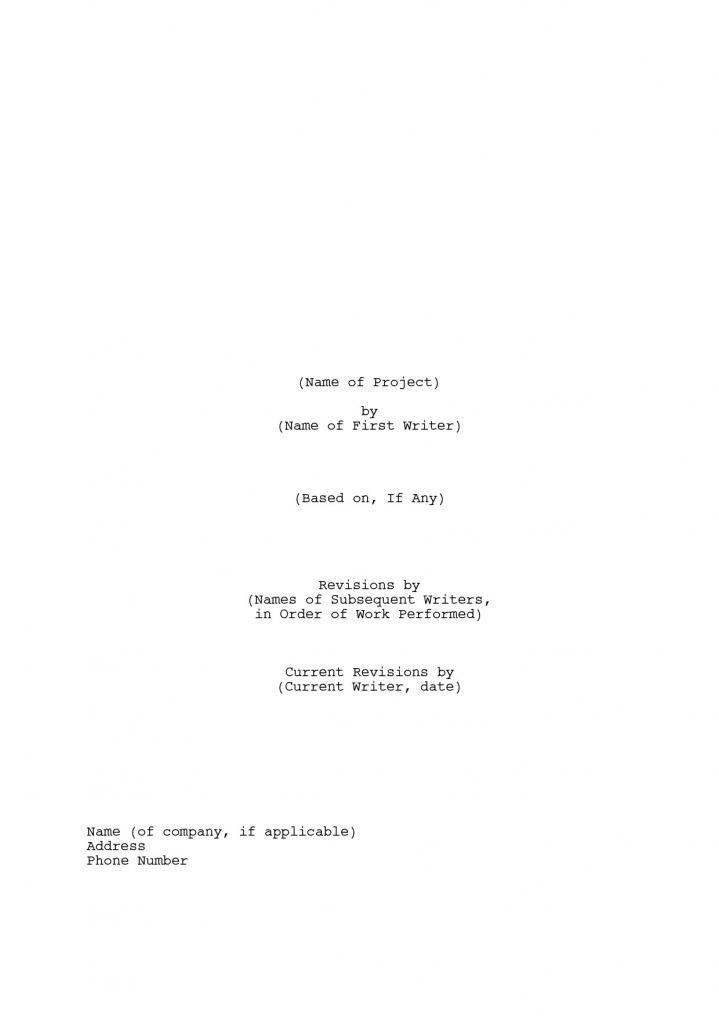 Formatting a Screenplay - InkSpot.Com