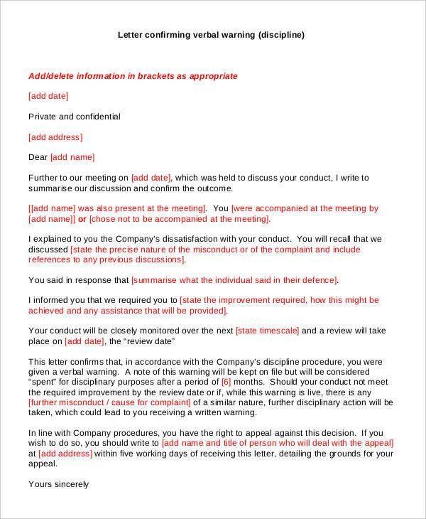 30+ Warning Letter Templates | Free & Premium Templates