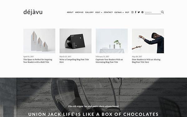 DejaVu - Minimal HTML Blogging Template | Bootstrap Blog ...