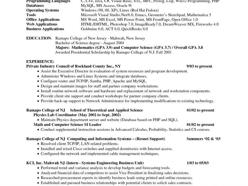 Charming Ideas Computer Science Resume Sample 2 Resume Teacher ...