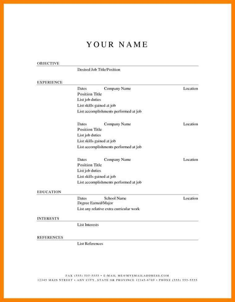 Easy Resume Examples. Resume Examples Basic About Sheets With ...