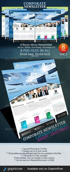 Corporate Newsletter Layout - Product Showcase | Newsletter layout ...