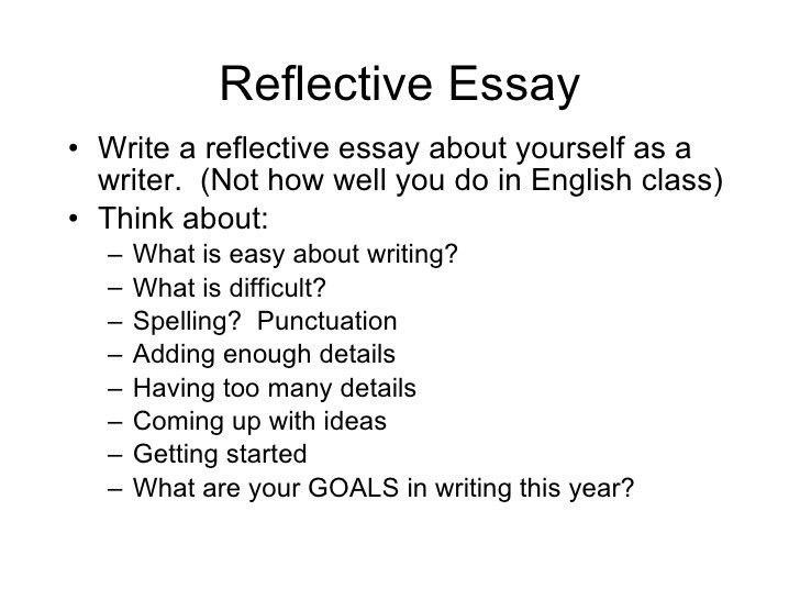 reflective essay what i learned in english class