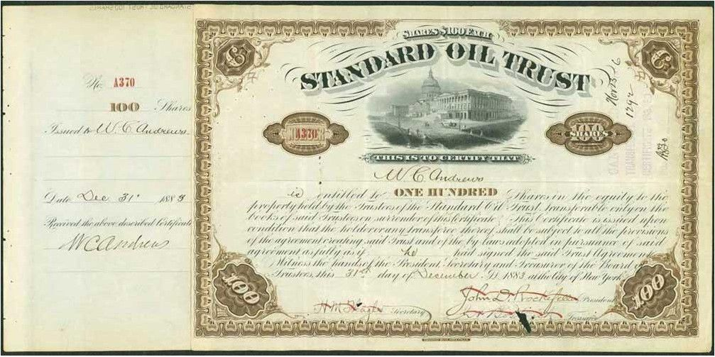 Tennessee Coal, Iron & Railroad Company stock certificate ...