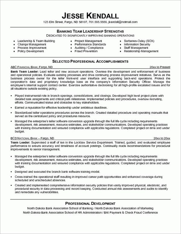 Bank Teller Job Description For Resume and Personal Banker Job ...