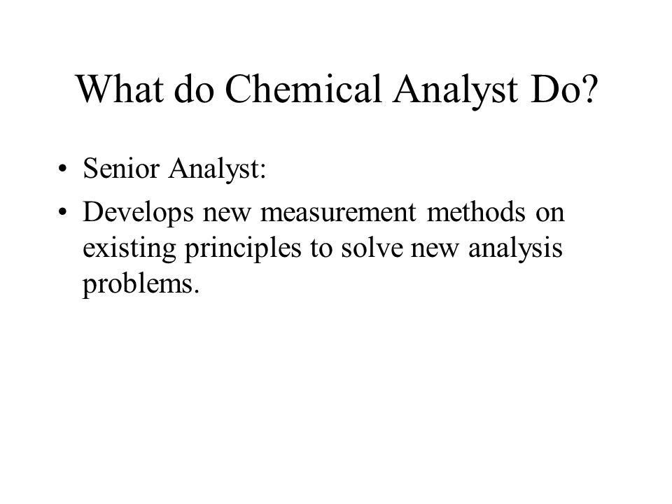 The Art and Science of Chemical Analysis - ppt download