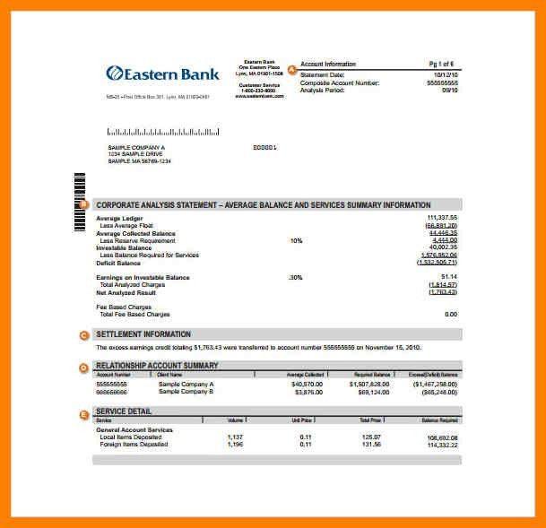 7+ bank statement template | aplication format