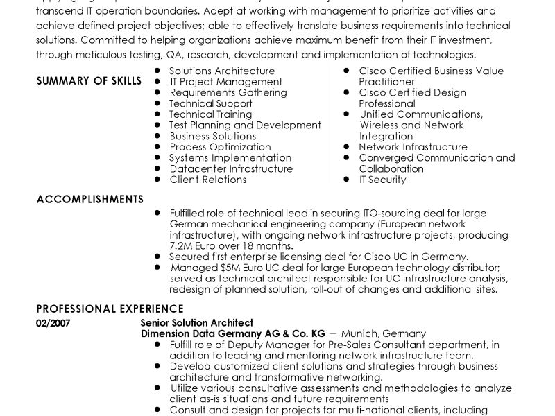 Pretentious Idea Solution Architect Resume 10 Professional Senior ...