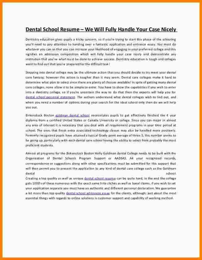 12+ dental school personal statement examples | Statement Information