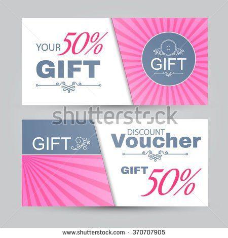Vector Gift Voucher Template Tulip Flowers Stock Vector 514842586 ...