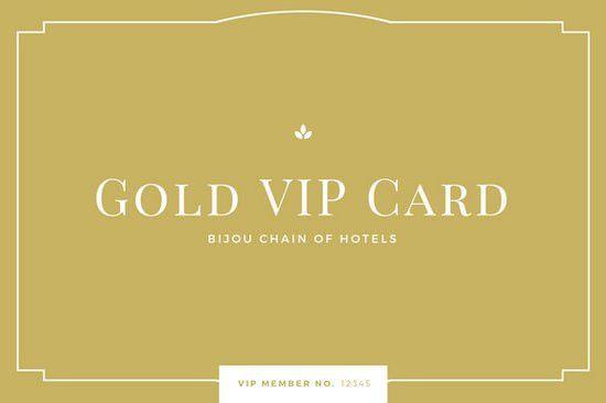 Gold Minimal Classy ID Membership Card - Templates by Canva