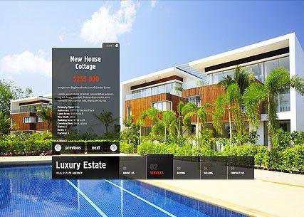 Real Estate flash website template | Best Website Templates