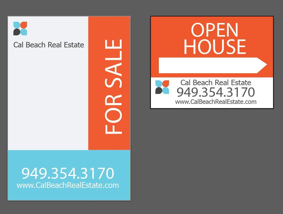 Realtor for Sale House yard sign & Open House Keller Williams Pre ...