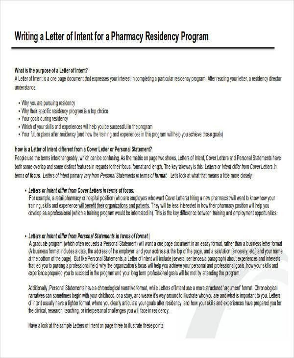 cover letter of intent cover letter resignation letter notice 1 ...