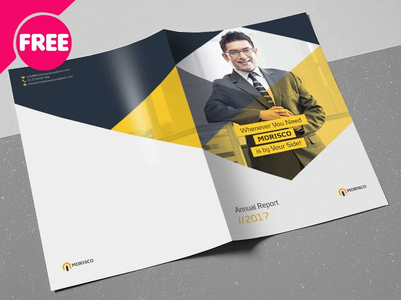 Free PSD - Annual Report Brochures Template by Free Download PSD ...
