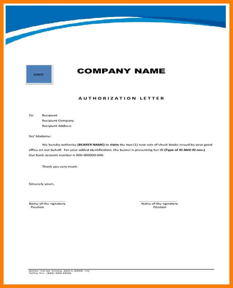 3+ authority letter format to collect documents | joblettered