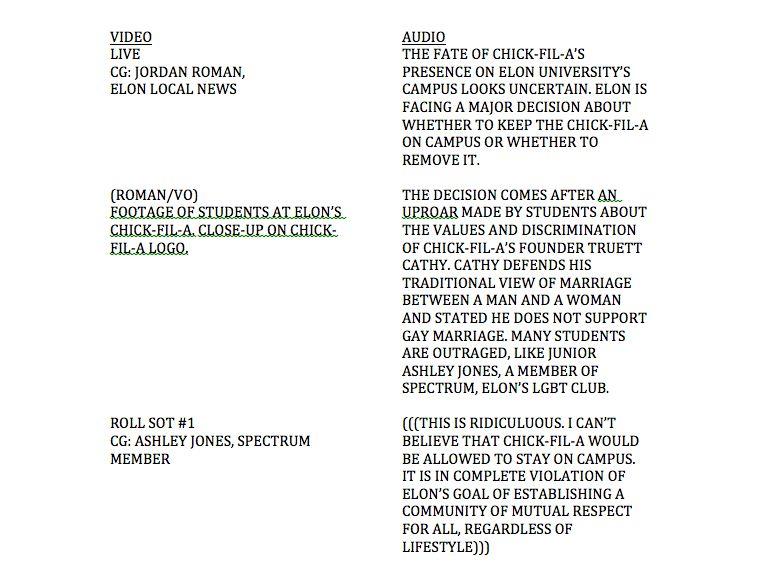 Television News Broadcast Script | Media Writing: Jordan Roman