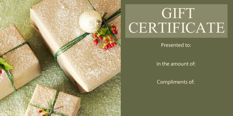 Personal | Gift Certificate Templates | Gift Certificate Factory