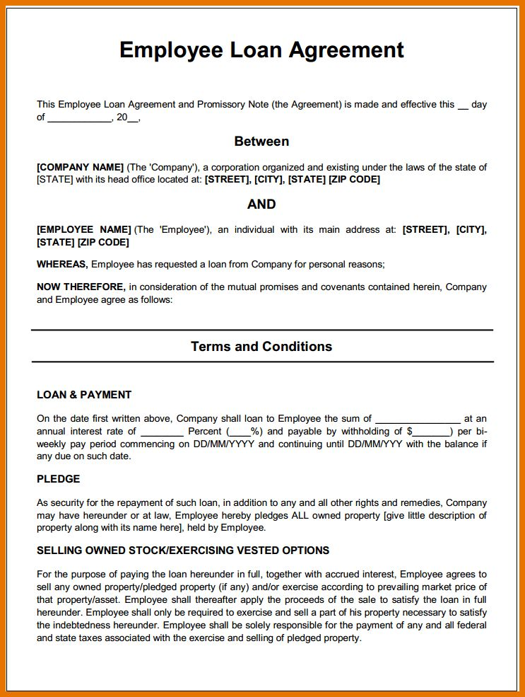 7+ free loan agreement | Itinerary Template Sample