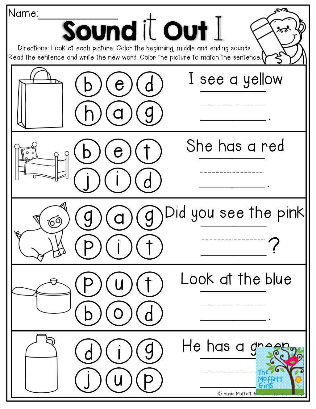 Ending Sounds Worksheets Kindergarten Karibunicollies – Ending Sounds Worksheets Kindergarten