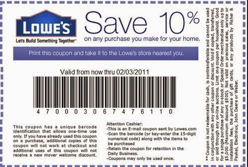 10 off for all lowes cardholders valid 81117 through 8. job ...