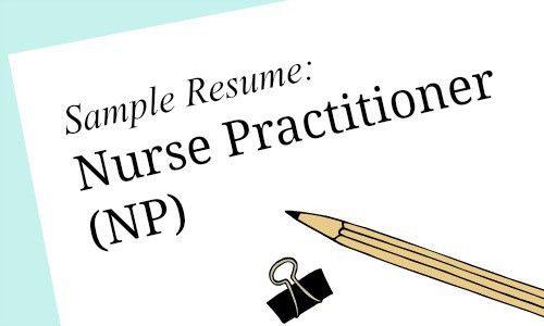 Nurse Practitioner Sample Resume for Job Seekers - Melnic