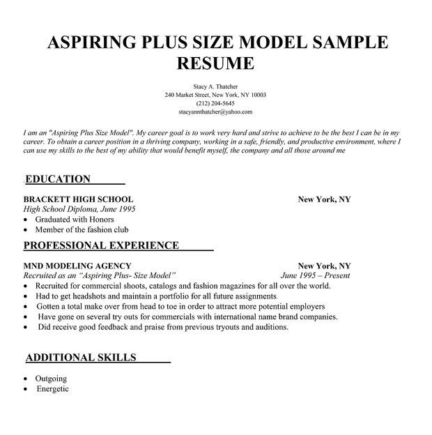 Fashion Model Resume | Enwurf.csat.co