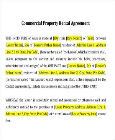 7+ Property Lease Agreement Sample - Free Sample, Example, Format ...