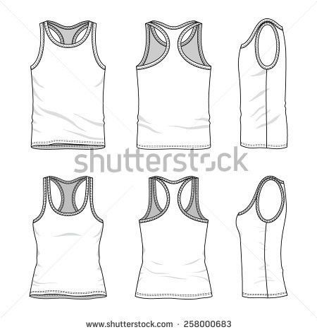 Mens Womens Clothing Set Front Back Stock Vector 257149888 ...