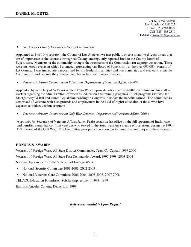 veteran resume