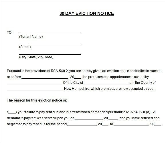 Printable 30 Day Eviction Notice - gameshacksfree