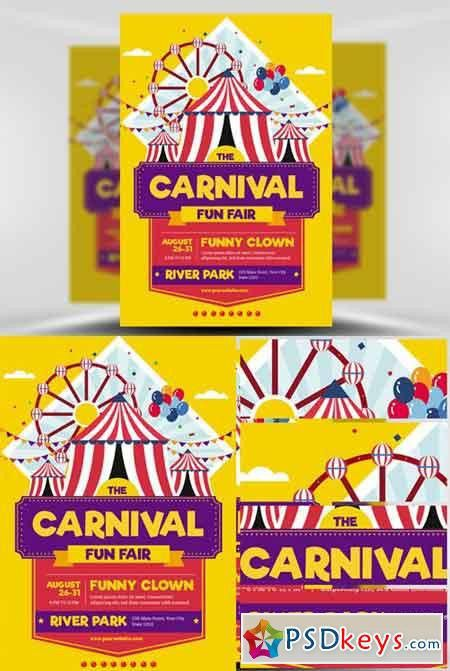 Top 30 best carnival flyer templates 2017 download psd flyer for carnival funfair event flyer template free download photoshop pronofoot35fo Image collections