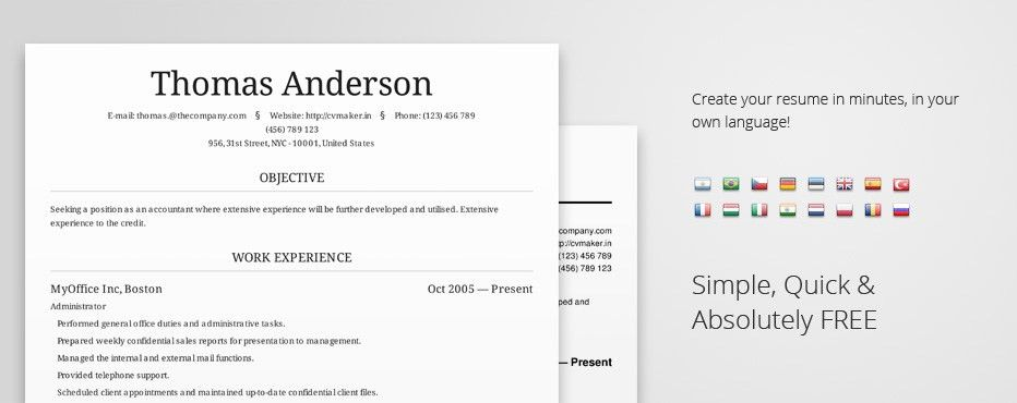CVMKR | A resume creator that actually works. | Public Allies ...
