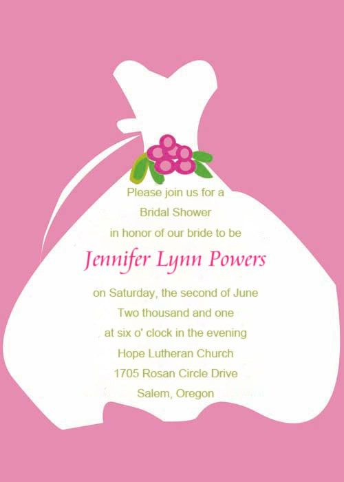 Bridal Shower Invite Wording – gangcraft.net