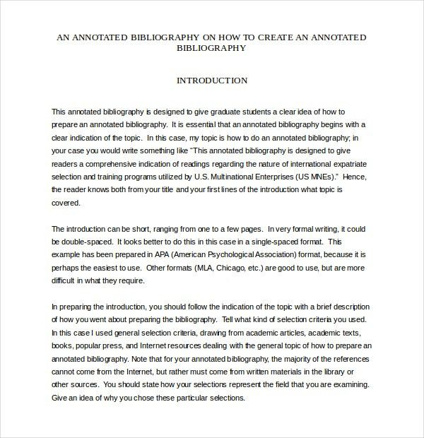 8+ Blank Annotated Bibliography Templates – Free Sample, Example ...