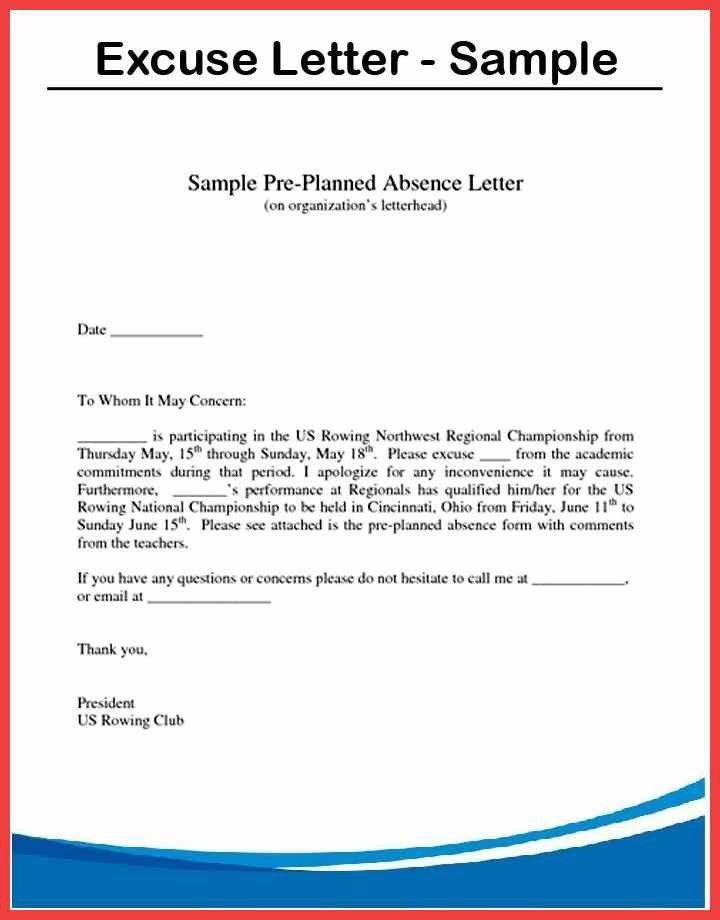 Absent Note Template. leave of absence letter sample formal letter ...