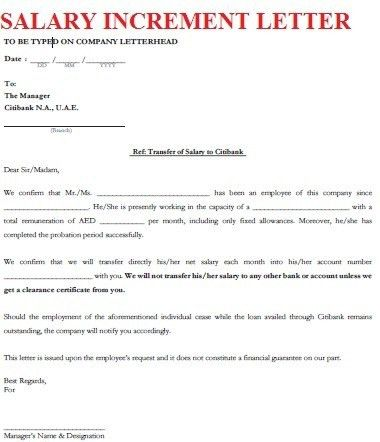 Salary Increment Letter Format Of Salary Increase | The Letter Sample