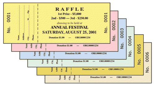 Beacon Printing - Ticket Samples