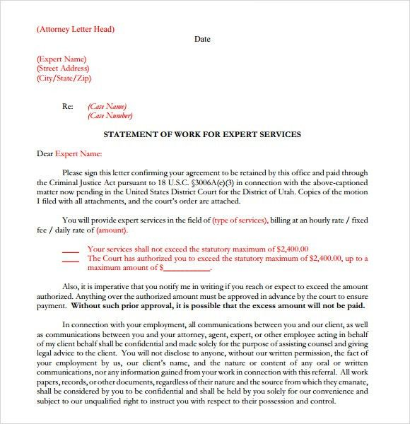 Sample Legal Letterhead Template - 7 Free Download for PDF