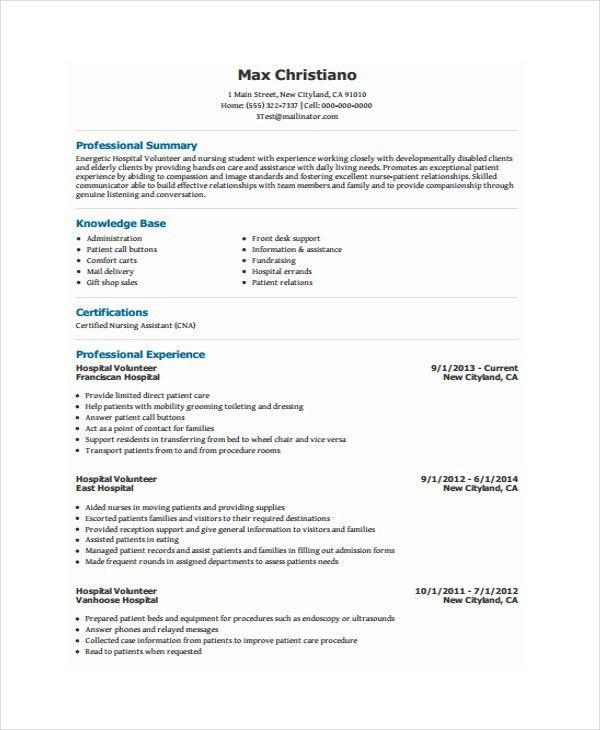 Volunteer Resume Template - 7+ Free Word, PDF Document Download ...