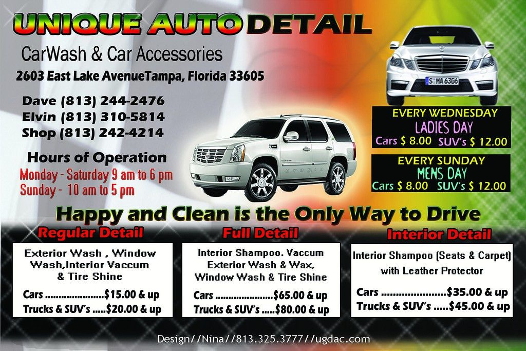 Unique Auto Detail Flyer | Graphics by Nina Ross | Flickr