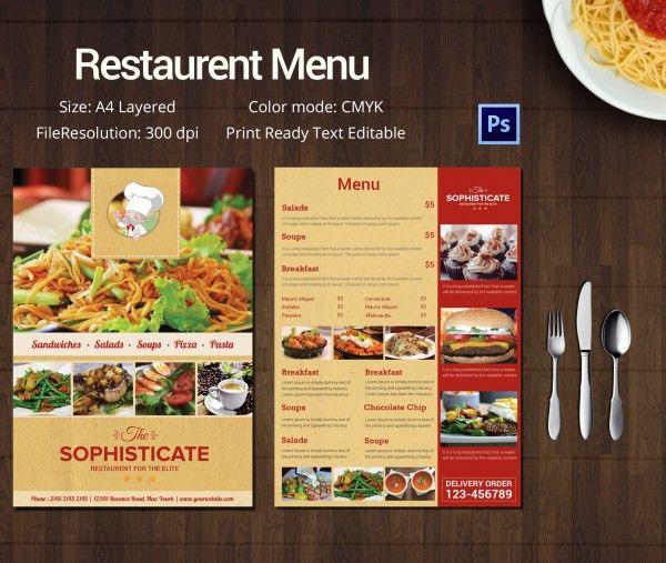 Restaurant Menu Templates For Mac - Cover Letter Templates